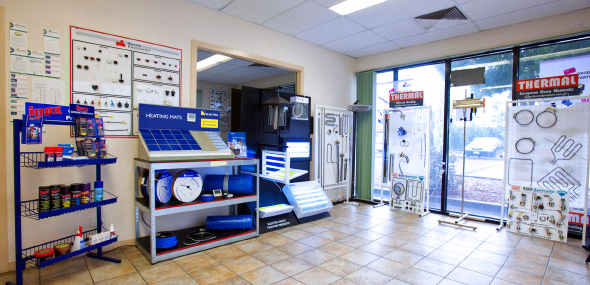 Our store for electric heating systems in Melbourne